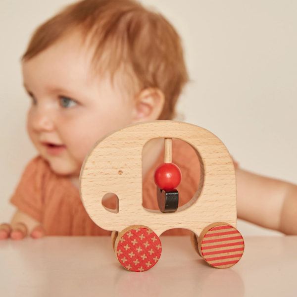 Petit Collage Push Toy | Elephant