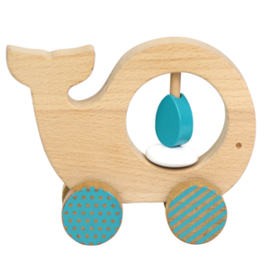 Petit Collage Push Toy | Whale