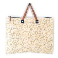 Bag | Folder | Gold Polka Dots