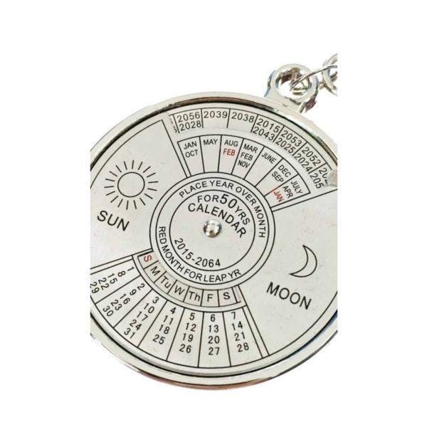 Kikkerland Keyring | 50 Year Calendar