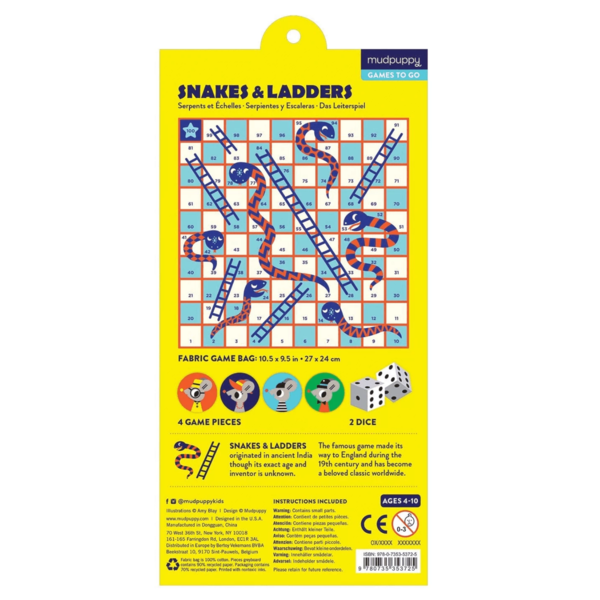 Chronicle Books Travel Game | Snakes & Ladders