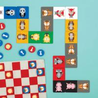Chronicle Books Chess & Checkers | Geometric Animals