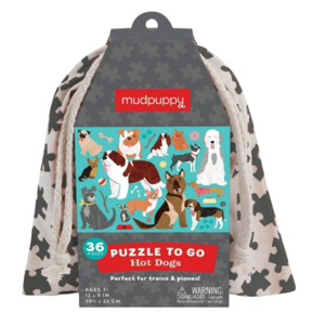 Chronicle Books Puzzle To Go | Hot Dogs