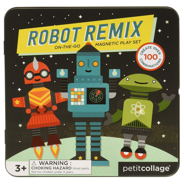 Petit Collage Magnetic Play Set | Robot Remix