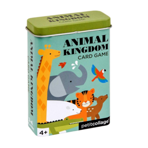 Petit Collage Card Game Tin | Animal Kingdom