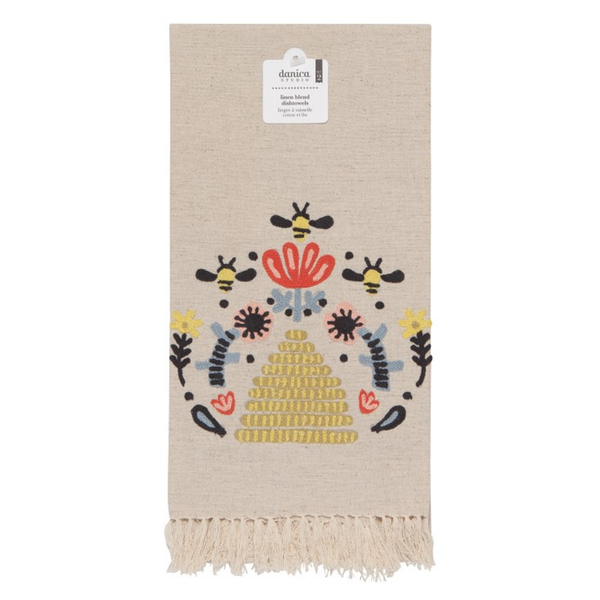 Now Designs Tea Towel   Embroidered Frida