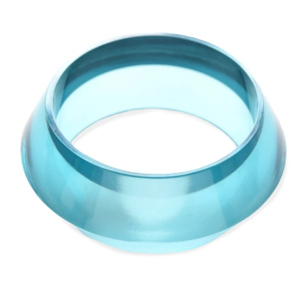 Ink + Alloy Geometric Bangle  | Lucite | Turquoise