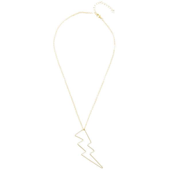 "Necklace  16""  Lightning Bolt Wire"