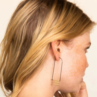 Ink + Alloy Earring | 2.5"