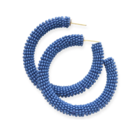 Ink + Alloy Earring | Seed Bead Hoop