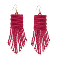 Ink + Alloy Earrings | Seed Bead Solid | 3.75 | Red