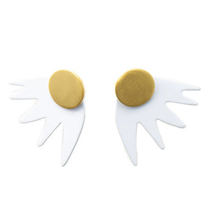 Ink + Alloy Earring | 1"