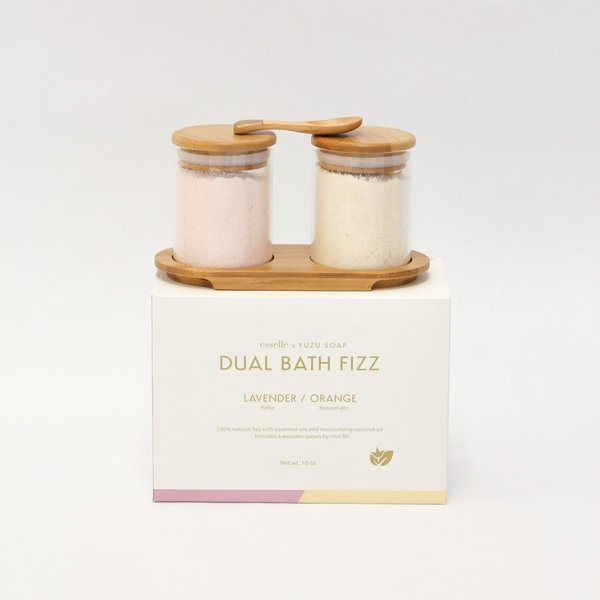 Yuzu Soap Bath Fizz Set | Lavender/Orange