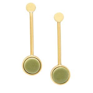 Earring | Pendulum | Olive Ceramic