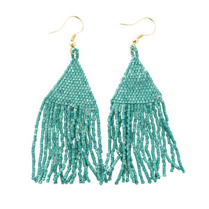 Ink + Alloy Earring | Petite Fringe Teal
