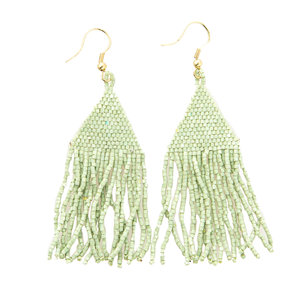 Ink + Alloy Earring | Petite Fringe | Mint