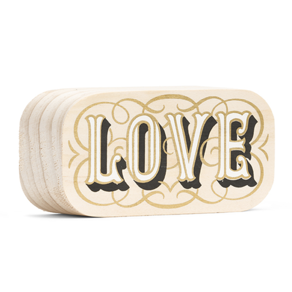 Compendium Wood Sign | Mini | Love