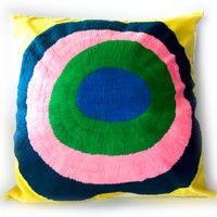 La Casa Cotzal Pillows | Embroidered Circles
