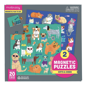 Chronicle Books Magnetic Puzzle | 20pc | Cats & Dogs