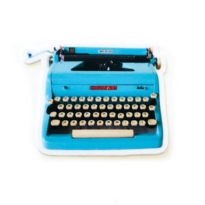 Sticker | Underwood Typewriter | Blue