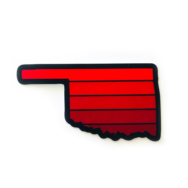 Stickers Northwest Sticker | Oklahoma Sunset | Red/Maroon