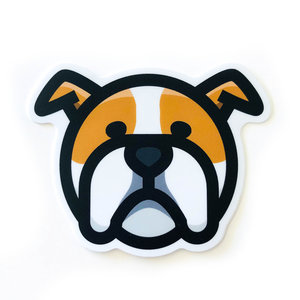 Stickers Northwest Sticker | Dog Bulldog Face