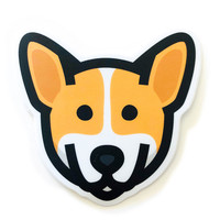 Stickers Northwest Sticker   Dog Corgi Face
