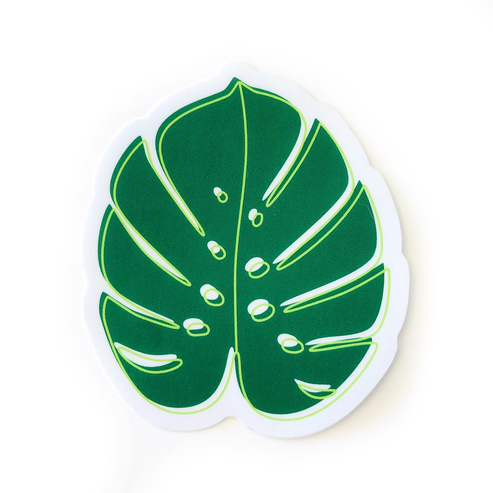 Sticker Monstera Deliciosa Leaf Plenty Mercantile Venue