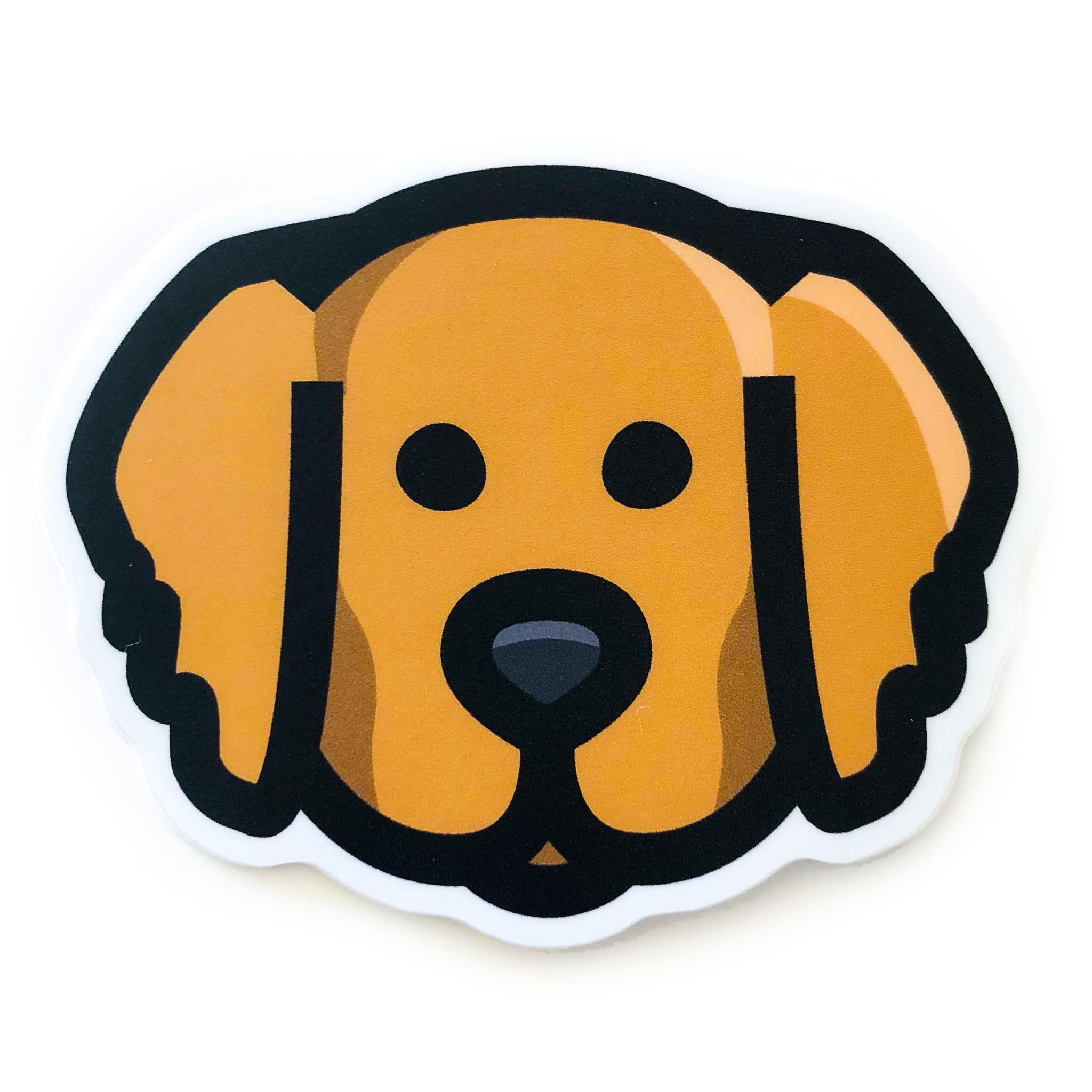 Sticker Golden Retriever Face Plenty Mercantile Venue