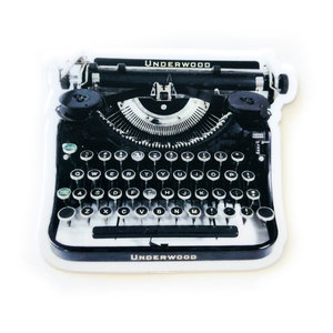 Sticker | Underwood Typewriter | Black