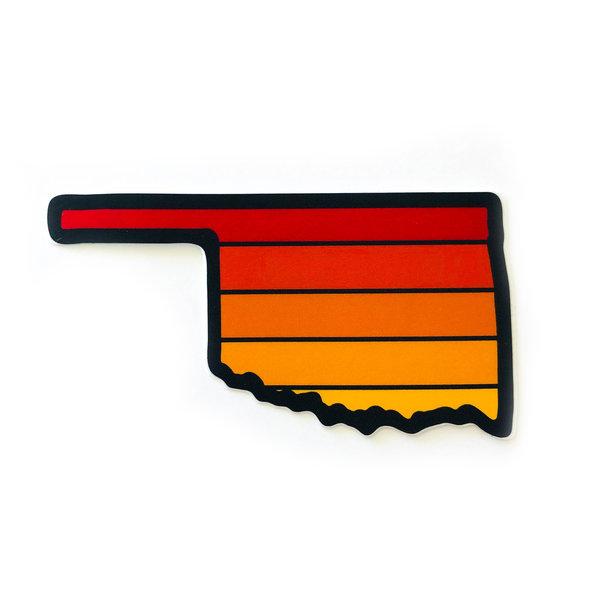 Stickers Northwest Sticker   Oklahoma Sunset   Red/Orange