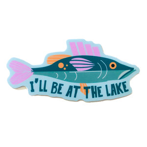 Stickers Northwest Sticker | I'll Be At The Lake Fish