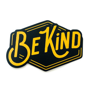 Stickers Northwest Sticker | Say: Be Kind Yellow/Black
