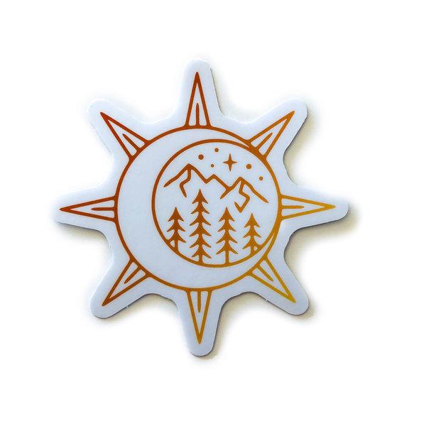Stickers Northwest Sticker   Sun & Moon Scene
