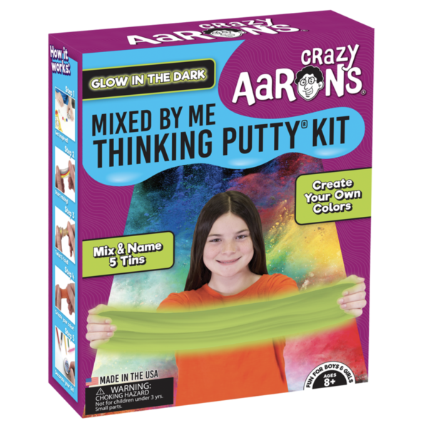 Crazy Aaron's Puttyworld Thinking Putty Kit | Mixed By Me | Glow