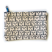 Counter Couture Bag Zip Pouch | Cats |Small