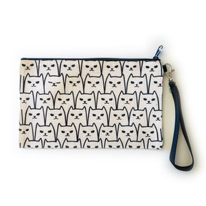 Counter Couture Large Zip Pouch | Cats