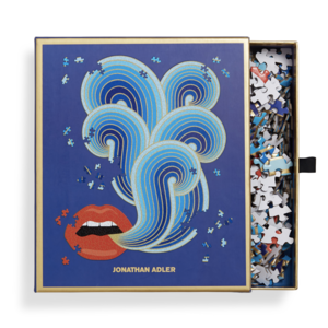 Chronicle Books Puzzle | 750PC Shaped | Jonathan Adler Lips