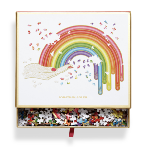 Puzzle | 750pc Shaped | Jonathan Adler Rainbow