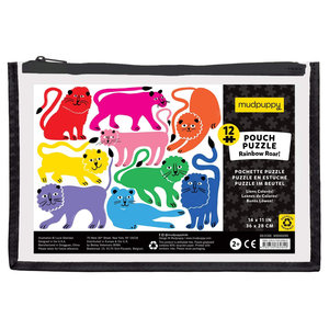 Chronicle Books Puzzle | 12PC | Rainbow Roar Pouch