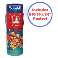 Crocodile Creek Puzzle+Poster | 200PC | USA