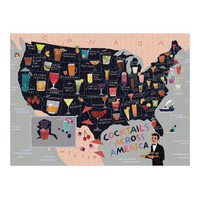 Puzzle | 1000PC | Cocktails Across America