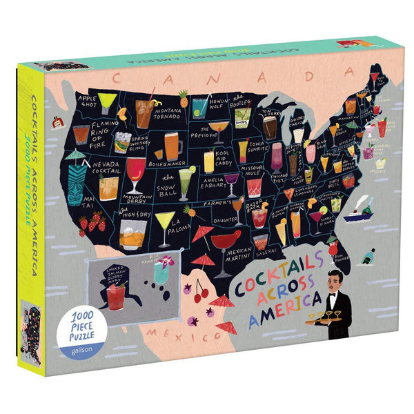 Chronicle Books Puzzle | 1000PC | Cocktails Across America