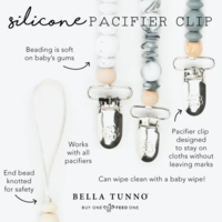 Bella Tunno Baby Silicone Pacifier Clips (Variety)