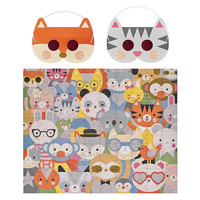 Petit Collage Puzzle   100PC Deoder   Animal Festival