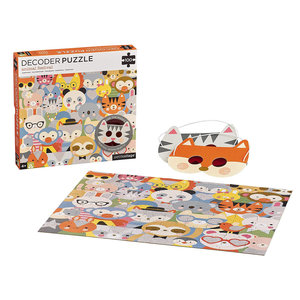 Petit Collage Puzzle | 100PC Deocder | Animal Festival