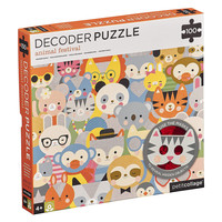 Petit Collage Puzzle | 100PC Decoder | Animal Festival