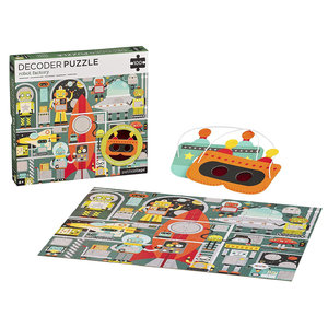 Petit Collage Puzzle | 100PC Decoder | Robot Factory