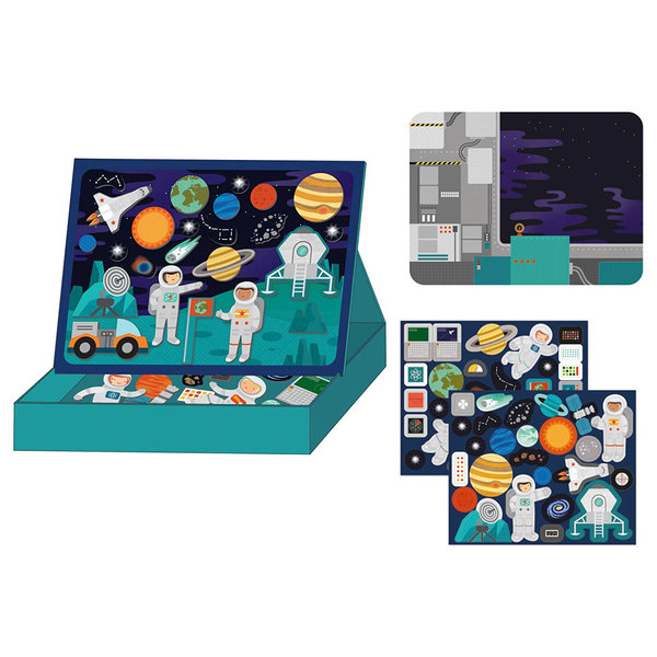 Petit Collage Magnetic Play Scene | Outer Space