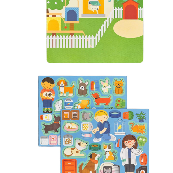 Petit Collage Magnetic Play Scene | Pet Hospital